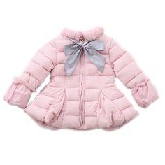 36.83$  Buy here - https://alitems.com/g/1e8d114494b01f4c715516525dc3e8/?i=5&ulp=https%3A%2F%2Fwww.aliexpress.com%2Fitem%2Fchildren-winter-jackets-for-girls-2016-kids-coats-girls-winter-solid-bowknot-girls-jacket-thicken-warm%2F32768615204.html - children winter jackets for girls 2017 kids coats girls winter solid bowknot girls jacket thicken warm cotton padded jackets