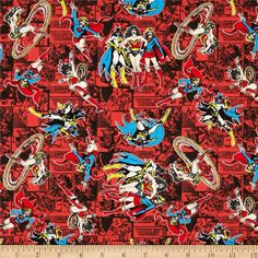 Girl Power 2 Comics Ruby from @fabricdotcom  Designed by DC Comics and licensed to Camelot Fabrics, this cotton print is perfect for quilting, apparel and home decor accents.  Colors include white, black, grey, blue, yellow, peach and shades of red.