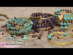 How to Make the Gemstone Memory Wire Bracelet Kit - YouTube