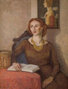 """""""Ruth,"""" Emma Fordyce MacRae, oil, 40 x 32"""", private collection."""