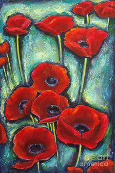 Paulines Poppies Painting  - Paulines Poppies Fine Art Print