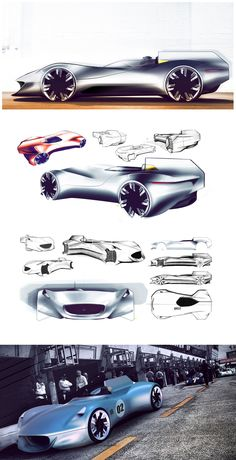 The Jaguar XK-I Concept is created by Mudit Gupta from DSK - Great supercar design sketches & 3D