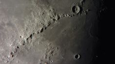 Eratosthenes Crater and Montes Apenninus with an iPhone and homemade telescope