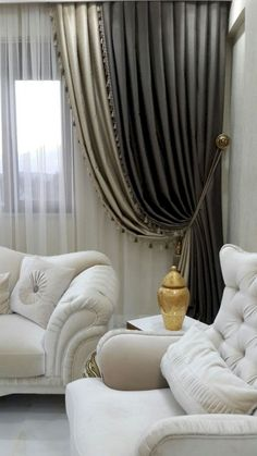 Trendy Design Curtains Can Change Your Residence Miraculously - Crithome Classic Curtains, Elegant Curtains, Beautiful Curtains, Modern Curtains, New Interior Design, Interior Decorating Styles, Home Decor Trends, Interior Design Curtains, Luxury Curtains