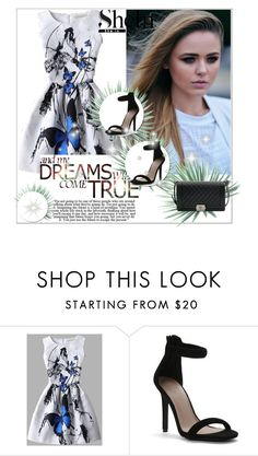 """Win SheIn white butterfly print dress - Contest"" by adorotic-1 ❤ liked on Polyvore featuring 7 For All Mankind, Chanel and Agave"