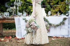rustic whimsical wedding flowers, image by Katherine Ashdown Photography