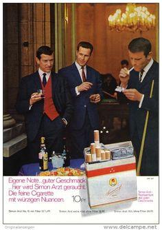 Vintage Werbung Zigarette Arzt