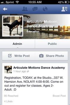 Articulate Motions Dance Academy. 337 W. Harrison Ave. NOLA. www.articulatemotions.com