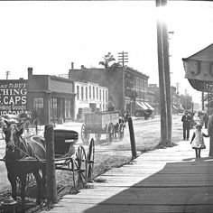 It's Michigan Ave. in Corktown, Detroit from the 1880s. Home to many restaurants & retailers today!