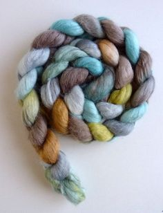 Alpaca Merino Silk Hand Dyed Spinning or by threewatersfarm
