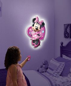 Love this Minnie Mouse Wall Friends Light by Minnie Mouse on #zulily! #zulilyfinds