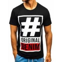 HASHTAG, mintás férfi póló #1239 - fekete