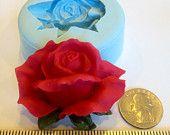 Rose Bud Silicone Mold chocolate fondant gumpaste by tracestuff