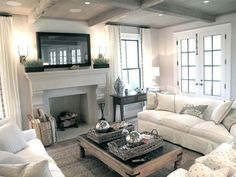 Pawleys Island Posh: TV Above the Fireplace