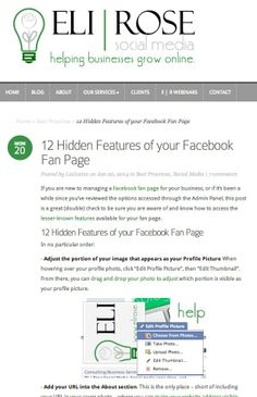 12 Hidden Features of your Facebook Fan Page