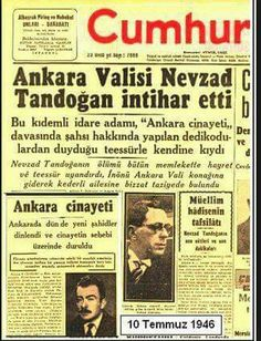 Newspaper Headlines, Old Newspaper, Trivia Of The Day, Turkey History, Newspaper Archives, Historical Pictures, Ankara, Historian, Nostalgia
