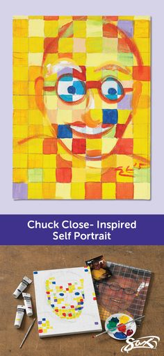 Trendy drawing art lessons middle school chuck close You are in the right place about middle sc. Art Club Projects, Steam Art, 7th Grade Art, Painting Lessons, Drawing Lessons, Artist Project, Art Classroom, Classroom Ideas, Writing Art