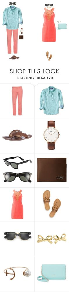 """""""GOALS"""" by oliviacat1215 ❤ liked on Polyvore featuring Polo Ralph Lauren, Banana Republic, Jack Rogers, Daniel Wellington, Ray-Ban, Vans, Lilly Pulitzer, Tory Burch, Kate Spade and Humble Chic"""