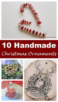 These 10 festive handmade Christmas ornaments will give you some great ideas for your own DIY Christmas ornaments this year!