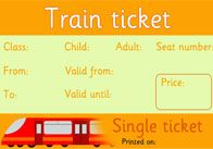 Editable Rail Tickets-