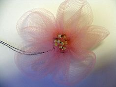 Chasing Paper Dreams: Tulle Flowers Tutorial_great tutorial, and an adorable product!