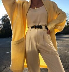 high yellow pants, blouse and cardigan. Visit Daily Dress Me at the Dail . - Outfits for Work high yellow pants, blouse and cardigan. Visit Daily Dress Me at the Dail . Look Fashion, Korean Fashion, Autumn Fashion, Fashion Outfits, Fashion Trends, Womens Fashion, Fashion 2018, Feminine Fashion, Ladies Fashion