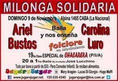 Milonga Solidaria festejando el día de la tradición