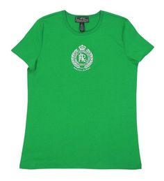 $28.99 - Ralph Lauren Active Women's Crest Logo T-shirt Racing Green #ralphlauren