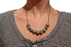 Black and gold chunky sparkle bead necklace  by BDAsunshine, $20.00