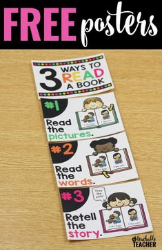 These are PERFECT for your classroom library or anywhere in your room! These reading posters remind the kids that there is more than one way to read a book. Kindergarten classroom first grade reading posters | free classroom posters printable teacher resources tpt freebie | ways to read a book | beginning readers struggling readers