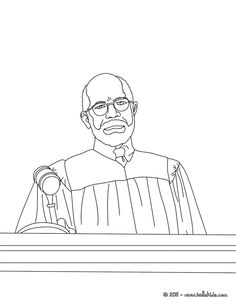 Judge Listening To Attorne Coloring Page Amazing Way For Kids Discover Job More