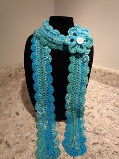Spring Shell Scarf by IdleHandsCrochetKnit on Etsy