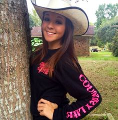 Look great in our Long Sleeve Country Life Black and Pink Skull T. www.countrylifeoutfitters.com