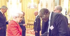 Nene Amegatcher (right) President of the GBA exchanging pleasantries with Queen Elizabeth II who hosted selected Commonwealth Bar Association Presidents recently in England.