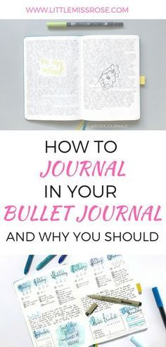 Have you thought about journaling in your bullet journal? Here are 5 reasons why it is beneficial for you to journal in your bullet journal. This article will also give you examples of some beautiful ways you can incorporate journaling into your bullet journal. #bulletjournal