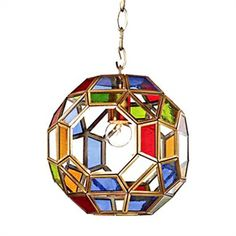 Ceiling Lights - Pendant Lights - Stained Glass Pendant Light with 1 Light