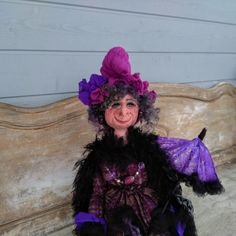 Unique Witch - Handmade Doll - Witch Doll - Halloween Decor - Art Doll - Collectible Doll - Whimsical Doll - Handmade Witch - Witch - by Rustiikkitupa on Etsy