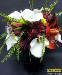 Fall Bridal Bouquet w/Turkey Feathers.