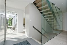 fra nytrapp.no Divider, Stairs, Glass, Room, Furniture, Home Decor, Ideas, Bedroom, Stairway
