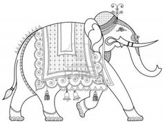 Illustration about Hand drawing of a decorated Indian elephant. Illustration of indian, asian, asia - 9700349 Pichwai Paintings, Indian Art Paintings, Kalamkari Painting, Madhubani Painting, Indian Elephant Art, Elephant Images, Phad Painting, Elefante Hindu, Indian Traditional Paintings