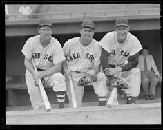 1940 - 1941 (approximate) Tom McBride, Leon Culberson, and George Metkovich.