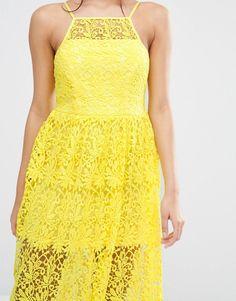 River Island | River Island Premium Lace Midi Prom Dress at ASOS