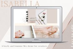 WIX Website template Isabella, Webdesign, Wix, Wix theme, website Wix