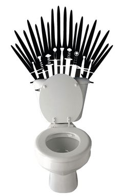 Game Of Thrones Toilet Decal – Take Your Seat On The Porcelaine Throne!