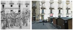 truppe britanniche e canadesi si incontrano nella piazza principale di Caltagirone dopo essere entrati in città da lati opposti. #Caltagirone #Sicilia1943