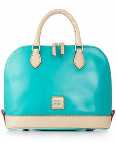 Dooney & Bourke Patent Leather Zip Satchel - Dooney & Bourke - Handbags & Accessories - Macy's
