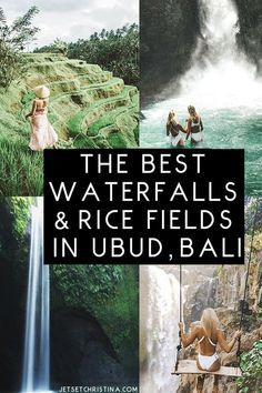 The Best Waterfalls & Rice Fields to Explore outside of Ubud, Bali. via @JetsetChristina's travel guide