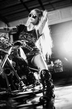 Another biker chick with attitude... just like Lexi Hart in 'Revolution' - Book #1 in The Lone Riders MC Series.