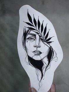 Dot Tattoos, Girl Tattoos, Mandala Elephant Tattoo, Creative Tattoos, New Girl, Cool Drawings, Tattos, Blackwork, Art Sketches