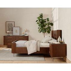6 Drawer Dresser, Nightstand, Redford House, Bedroom Storage, Polished Brass, Solid Oak, Furniture Decor, Design Trends